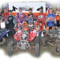 Overall winners, left to right; Team Thumpers, JB Racing and Team Wild Child Racing.