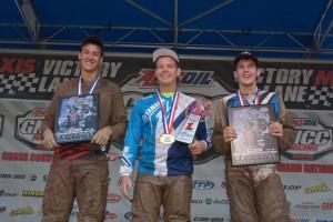 XC2 podium: (left) Marshal Goings, Cole Richardson, (right) Randy Hamilton
