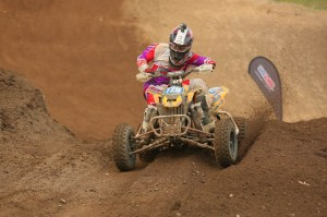 Jeffrey Rastrelli finished sixth in the Pro class and second in the Pro-Am class aboard his JB Racing / Cheerwine / Can-Am DS 450 ATV. He is the Pro-Am class points leader with one round remaining.
