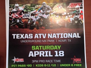 TQRA Round 3 and AMA ATVMX National This Weekend at Underground MX in Kemp, TX