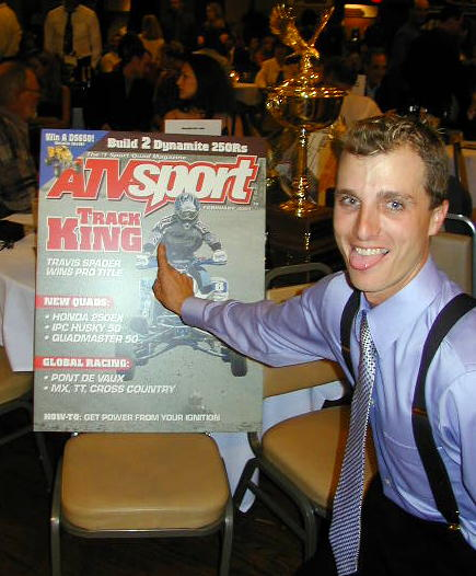 T-Doc's main man, Paul Turner proudly displays ATV Sports Magazine's newest cover – That's the number one plate (Turner's forefinger) that was made possible by the team's year long hard work.