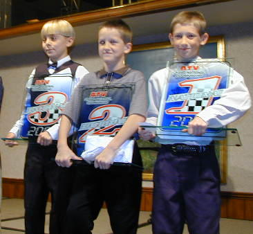 """That's Josh Ross, who narrowed out his brother Cory by only one point to win the 70cc Youth National Championship. Number three went to Keeton """"The Bull"""" Hanks respectively."""