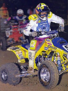 Kory is no stranger to Suzuki two-stroke powered ATVs. Here in his first pro race he won the San Diego Mickey Thompson Off Road GP.